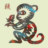 The Chinese Lunar Year 12 Animal - Monkey Pop art
