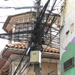 """Telephone Pole in La Paz, Bolivia"" by imatty35"