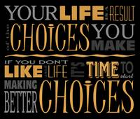 Choices Motivational Quote Poster (Black/Orange)