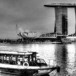 """Black and White City Series - Marina Bay Sands, Si"" by sghomedeco"
