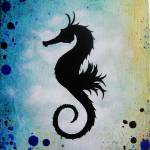 """seahorse8x10"" by foxfyer"