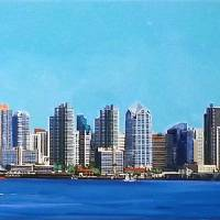 San Diego California Skyline Art Prints & Posters by RD Riccoboni