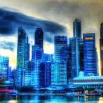 """Singapore Urban Landscape -City Skyline"" by sghomedeco"