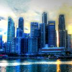"""Singapore Urban Landscape - City Skyline"" by sghomedeco"