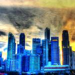 """City Skyline - Singapore Urban Landscape 2013"" by sghomedeco"