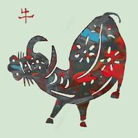 The Chinese Lunar Year 12 Animal - Ox art