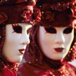 """Two People in Carnival Masks, Venice (Italy)"" by petrsvarc"