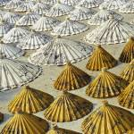 """Yellow and White Saa-Paper Umbrellas (Thailand)"" by petrsvarc"