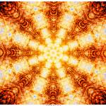 """Undulating Tunnels of Molten Light - Abstract Art"" by LeahMcNeir"