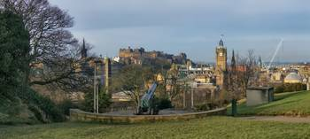 Edinburgh. Scotland from Calton Hill (Panorama)