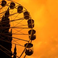Fairground Wheel with Scott Monument Background in Art Prints & Posters by Ruy Lestrade