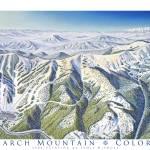 """Monarch Mountain, Colorado"" by jamesniehuesmaps"