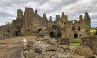 The Ruins of Dirleton Castle. Scotland (Panorama)