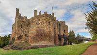 Dirleton Castle, Scotland with Drawbridge