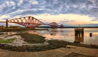 Panoramic Sunset over the Forth Rail Bridge