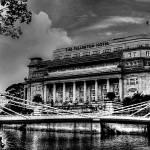 """Fullerton b/w - Urban Landscape Singapore"" by sghomedeco"