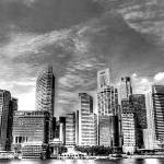 """Cityscape 2013 b/w - City Singapore Series"" by sghomedeco"