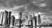 Cityscape 2013 b/w - City Singapore Series