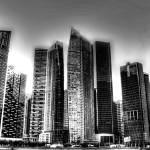 """Marina Bay Financial Center b/w - City Singapore S"" by sghomedeco"