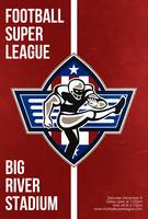 American Football Placekicker Super League Poster