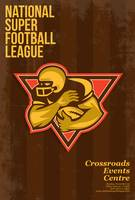 American National Super Football League Poster