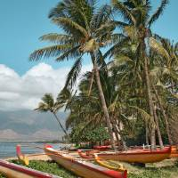 Waa Kaulua Hawaiian Outrigger Kihei Maui Hawaii Art Prints & Posters by Sharon Mau