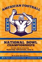 American Football National Bowl Poster Art