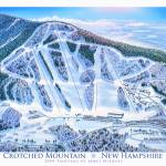 """Crotched Mountain, New Hampshire"" by jamesniehuesmaps"