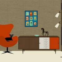 Orla Kiely Cabinet Art Prints & Posters by Donna Mibus