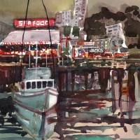 Night Wharf Art Prints & Posters by William Dunn