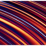 """Color & Form Abstract - Curved Slope Warm Tones"" by LeahMcNeir"