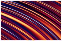 Color & Form Abstract - Curved Slope Warm Tones