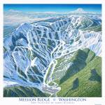 """Mission Ridge, Washington"" by jamesniehuesmaps"
