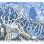 """Sierra-At-Tahoe California"" by jamesniehuesmaps"
