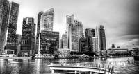 Black and White Photography - Cityscape Singapore