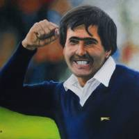 Seve Ballesteros Oil on Canvas Art Prints & Posters by David Rives