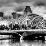 """City Singapore in Black/white - Esplanade Theater"" by sghomedeco"
