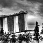"""Urban Landscape Singapore B/W : Marina Bay Sands"" by sghomedeco"