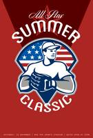 Baseball All Star Summer Classic Poster