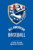 All American Baseball Classic Retro Poster