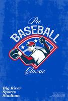 Pro Baseball Classic Tournament Retro Poster