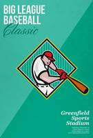Big League Baseball Classic Retro Poster