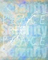 Serenity and Peace Abstract in Blue