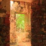 """Windows through an old stone Sugar Mill"" by RoupenBaker"