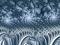 Abstract Blue Fractal World