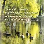 """Isaiah 26 3 Thou Wilt Keep Him In Perfect Peace"" by susansartgallery"