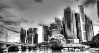Black/white Cityscape - City Singapore 2013