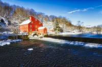 Winter Morning at The Red Mill