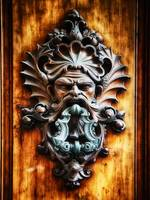 Angry Man Face Door Knocker
