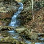 """Cane Branch over Cathedral Falls"" by Pipevinestudio"